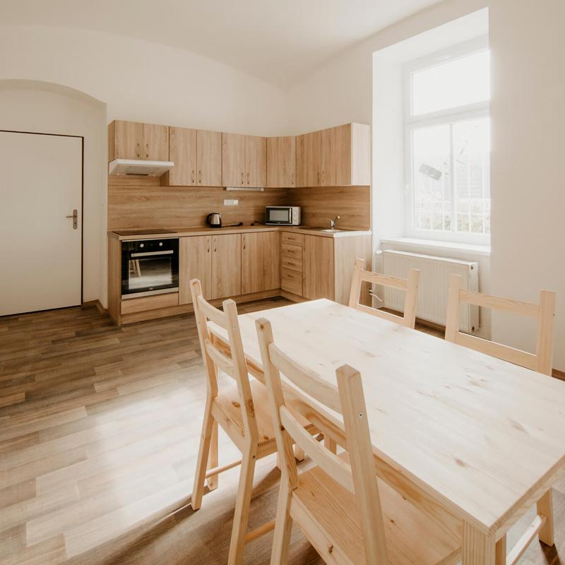 Kuchyň - Apartmán č.2 - Kolej Jinak